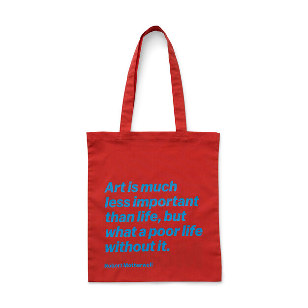 Artist Quote Totes in color Robert Motherwell