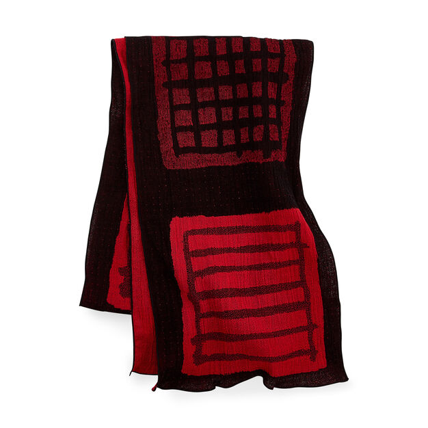 Warp and Weft Cotton Scarf in color Red