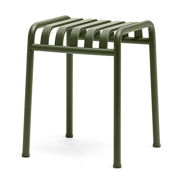 HAY Palissade Outdoor Side Table in color Olive