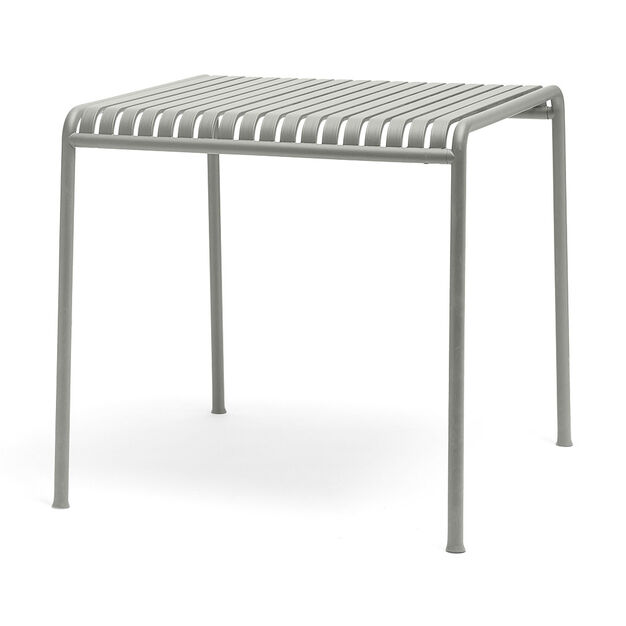 HAY Palissade Outdoor Café Table in color Sky Grey