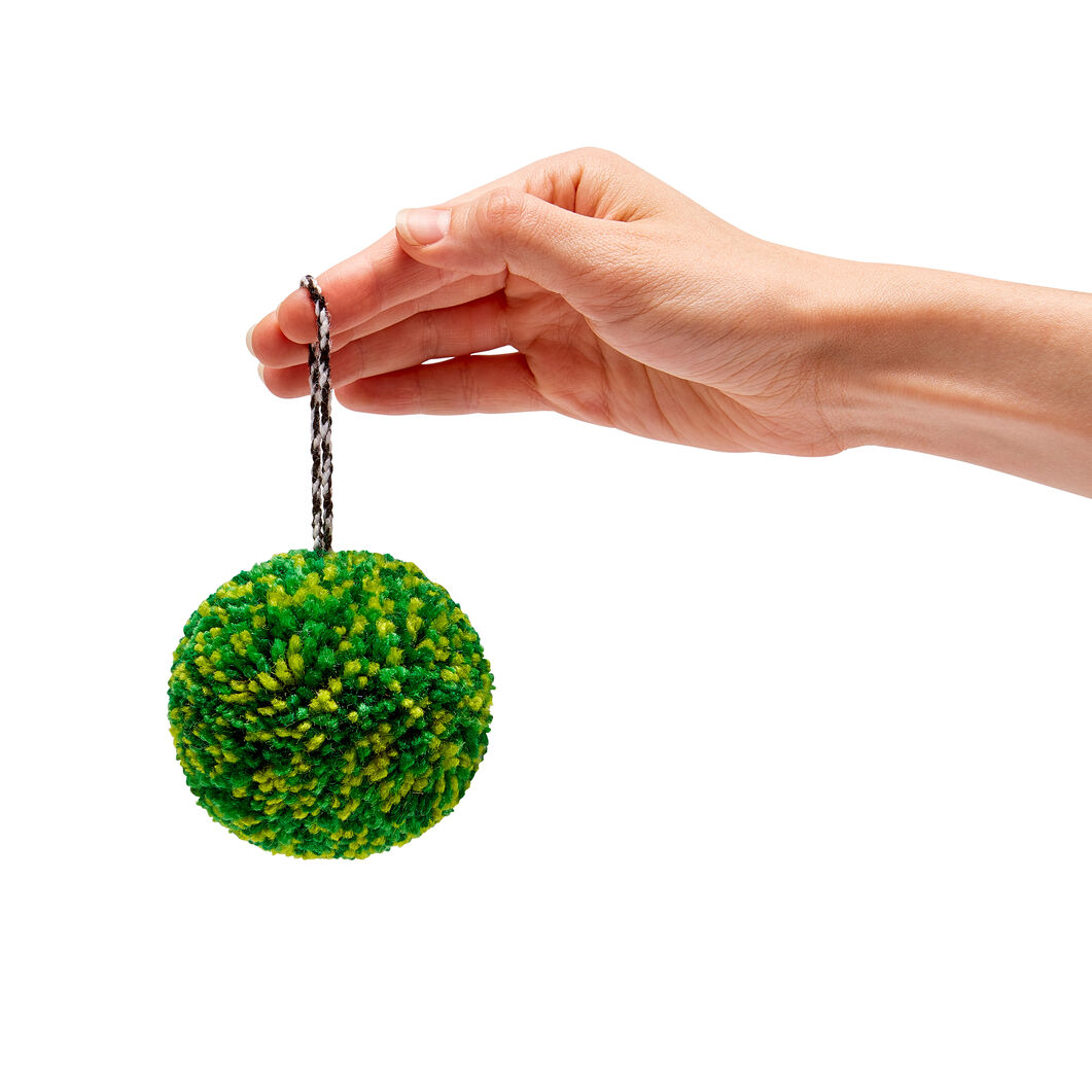 Pompom Holiday Ornaments in color Green