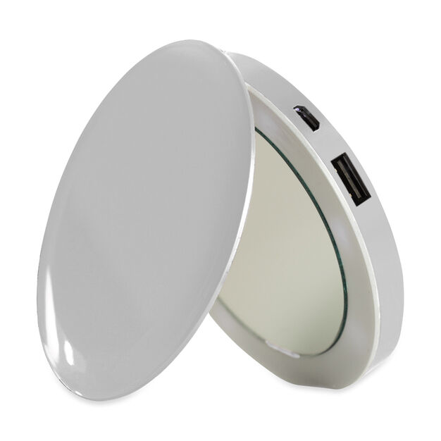 Pearl Compact Mirror and Charger in color Silver