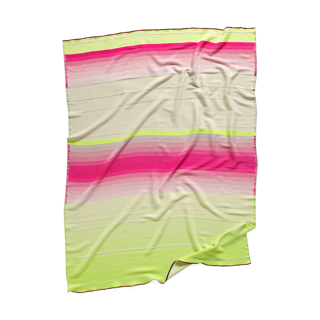 HAY Color Plaid Throw - No.7 Pink & Lime in color Pink/ Yellow