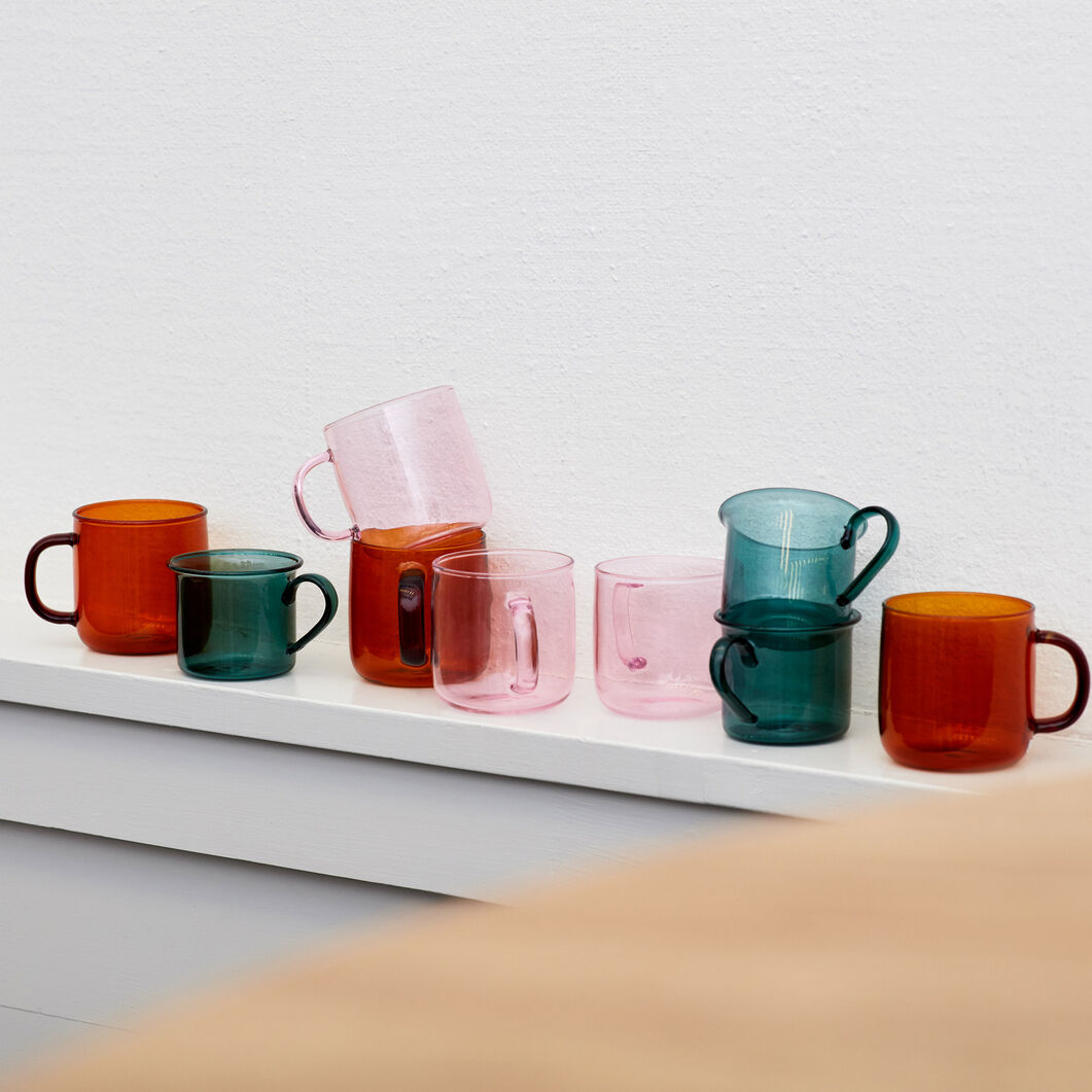 HAY Borosilicate Mugs in color Pink