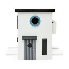 Wildlife Garden Birdhouse and Feeder in color