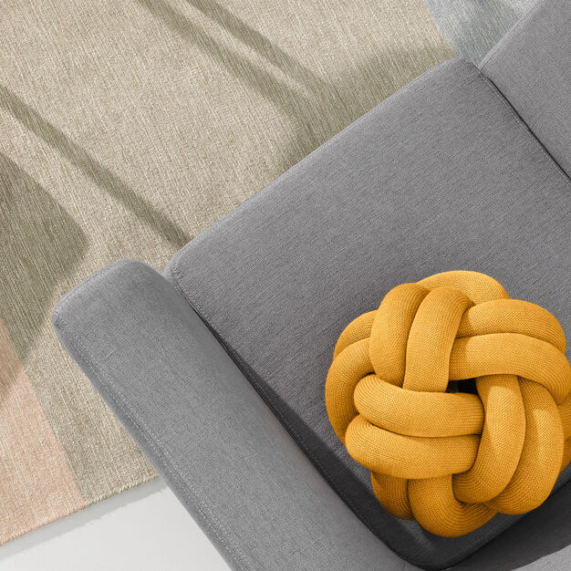 Knot Cushion in color Yellow