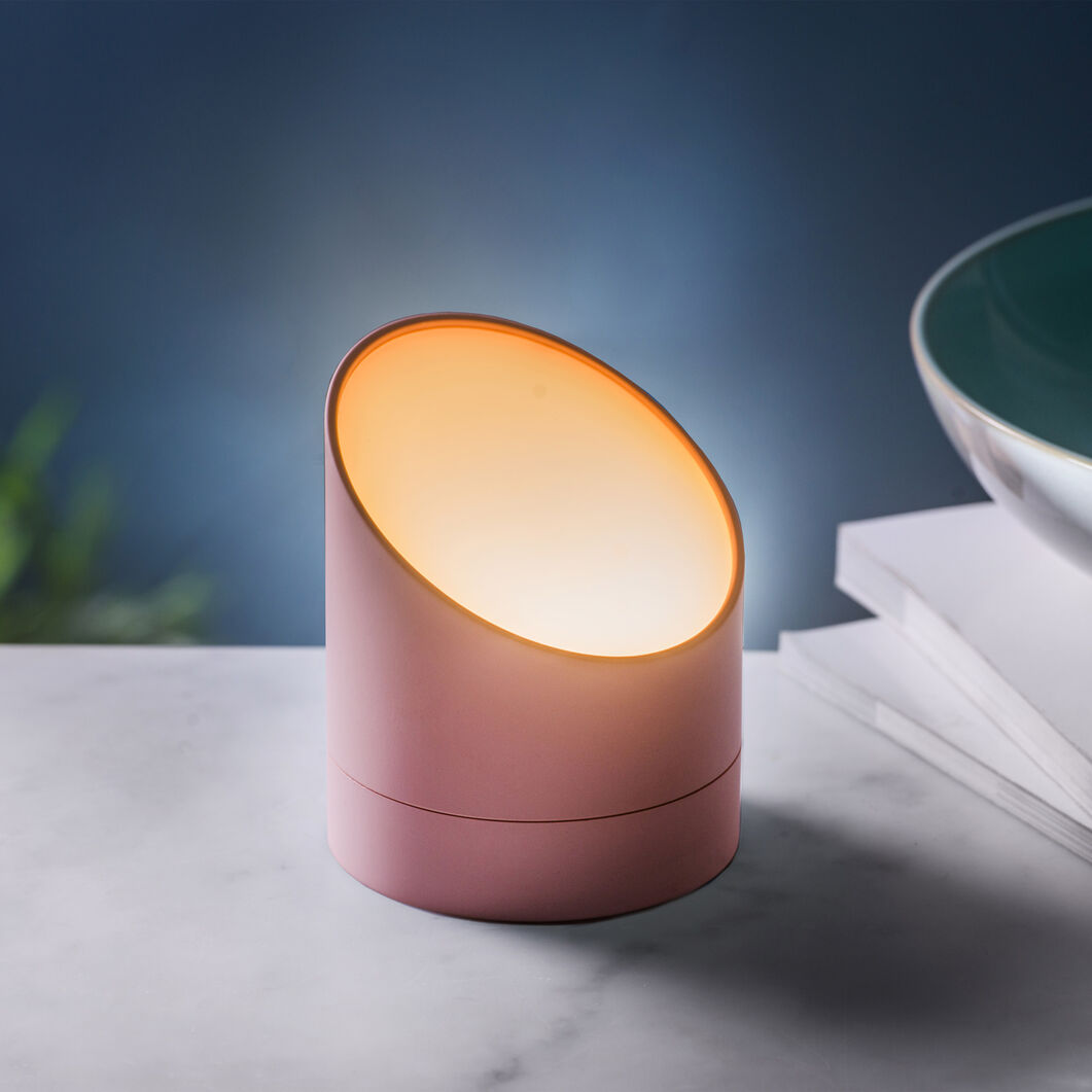 Edge Light Alarm Clock in color Pink