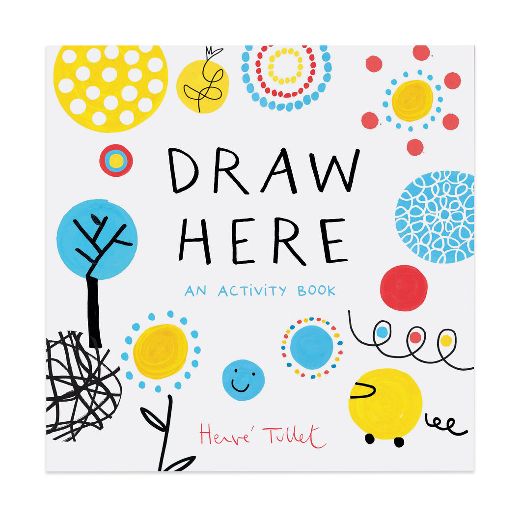 Draw Here: An Activity Book - Paperback in color