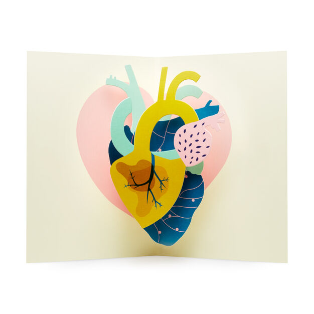 Make My Heart Pound Pop-Up Note Cards - Set of 6 in color