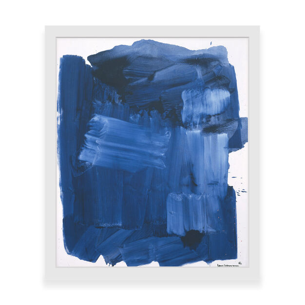 Hans Hofmann: Blue Monolith Framed Print in color