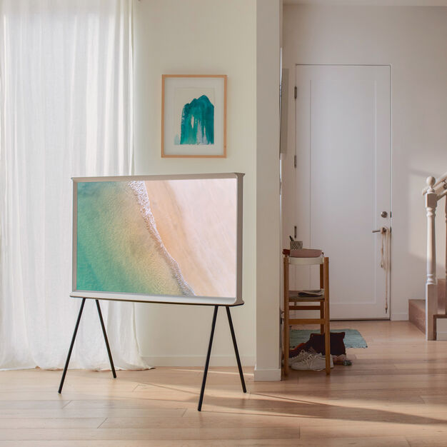 "Samsung The Serif 2.0 QLED TV 55"" in color"