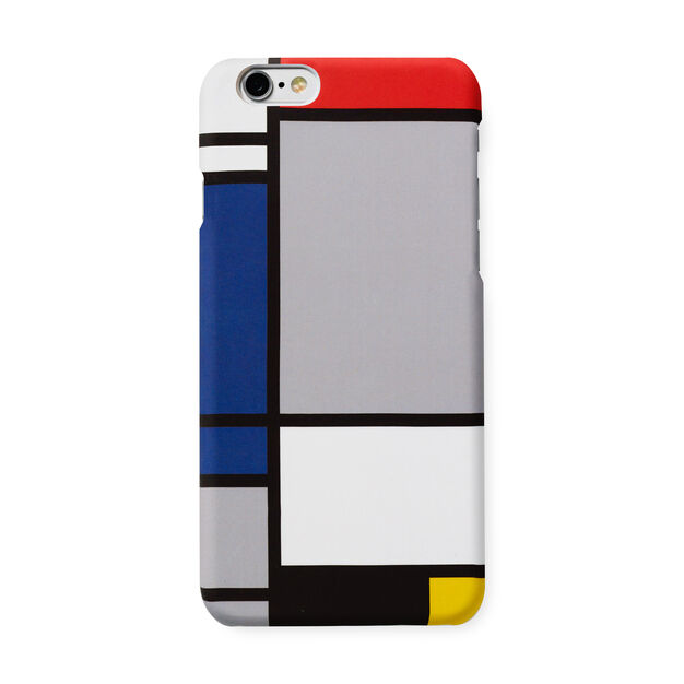 Mondrian iPhone 6 Case in color Blue