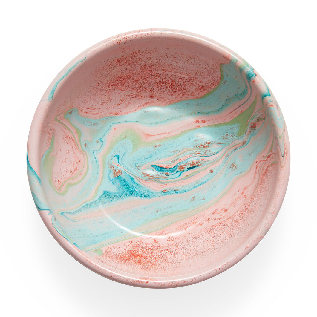 Multi Swirl Enamel Bowl in color Blush