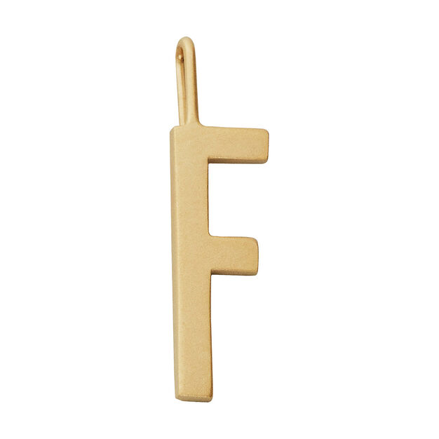 Arne Jacobsen Large Charm Design Letters in color Gold