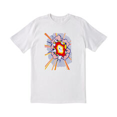 Roy Lichtenstein: Explosion T-Shirt Small in color White