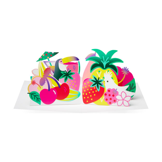 Festive Fruits Pop-Up Note Cards - Set of 6 in color