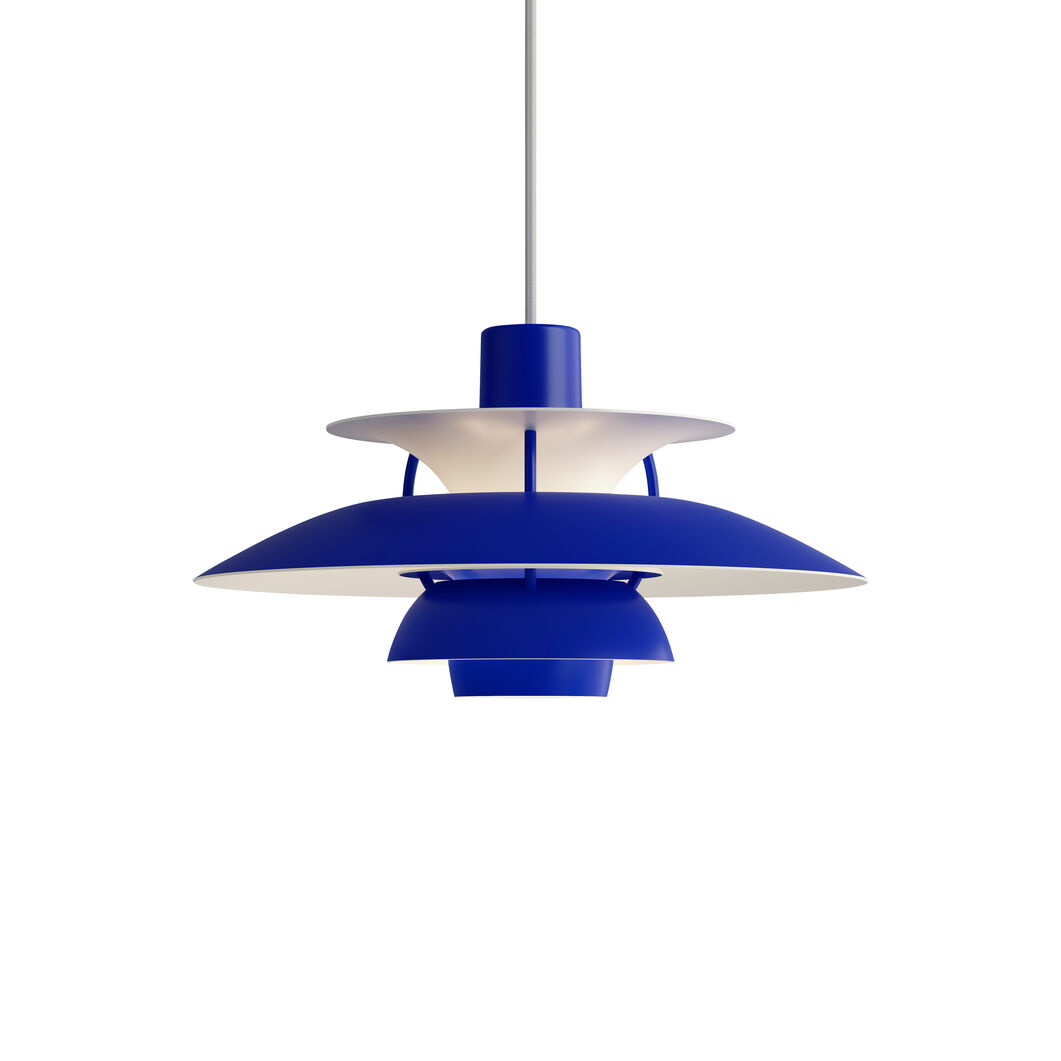 PH 5 Hanging Lamp in color Blue Monochrome