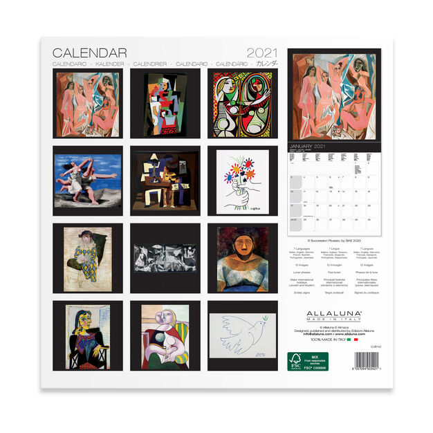 2021 Picasso Wall Calendar in color