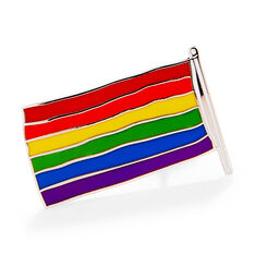 Rainbow Flag Enamel Pin in color