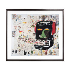 Basquiat: Glenn Framed Print in color