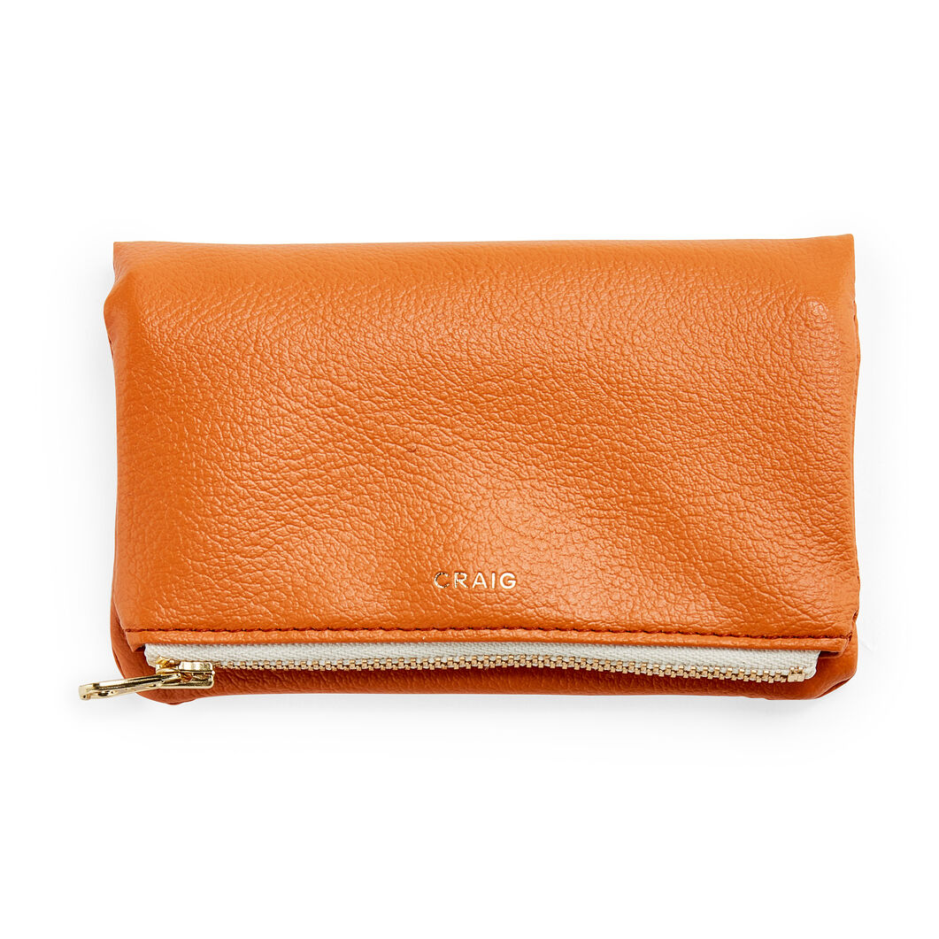 Delfonics Craig Fold-over Wallet in color Orange