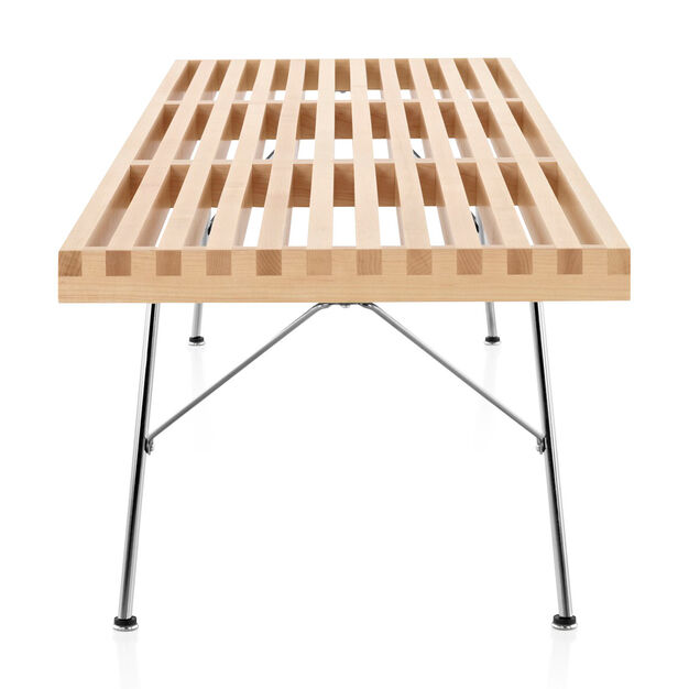 """Nelson™ Slatted Maple Bench - 72""""l in color"""