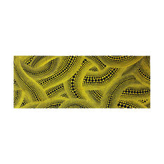 Yayoi Kusama Yellow Trees Tea Towel in color