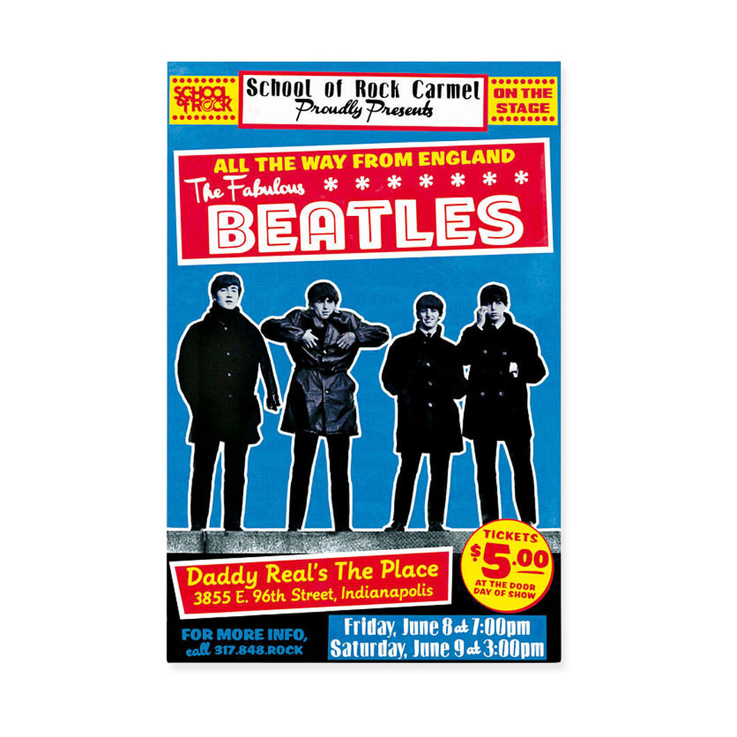 The Beatles: School of Rock Poster in color