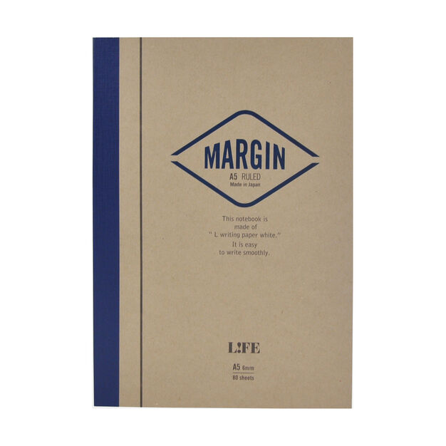 Life Margin Ruled Notebook in color
