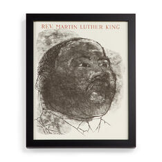 Ben Shahn: Martin Luther King Jr. Framed Poster in color