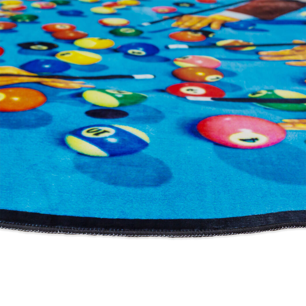 Seletti Wears Toiletpaper Round Rug: Snooker in color