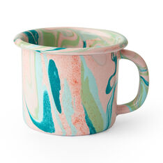 Multi Swirl Enamel Mug in color Blush