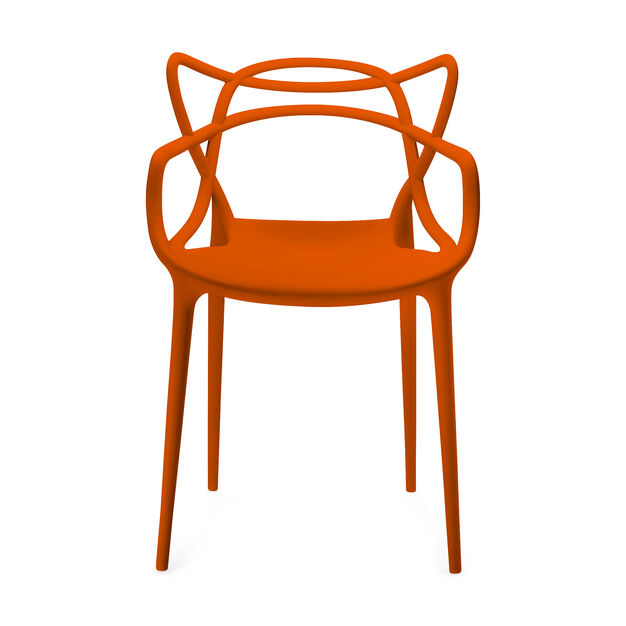 Masters Chair Set of Four - Orange in color