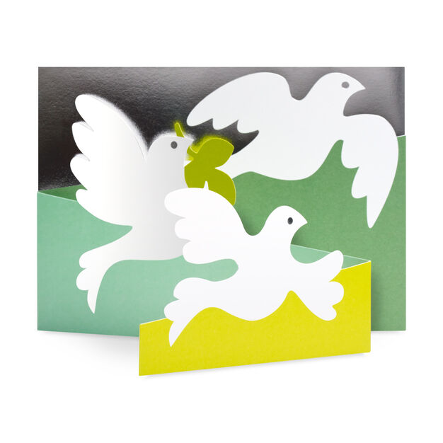 Olive Doves Holiday Cards - Set of 8 in color
