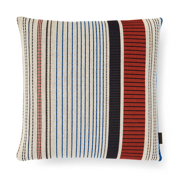 Point Pillow - Ivory and Ember in color