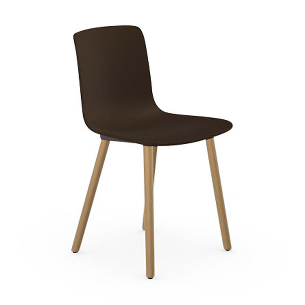 HAL Wood Chair in color Chocolate