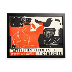 Le Corbusier: Tapisseries Récentes Framed Poster in color