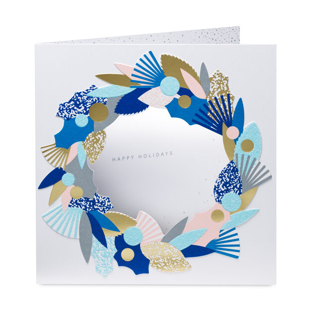 Winter Wreath Holiday Cards - Set of 8 in color