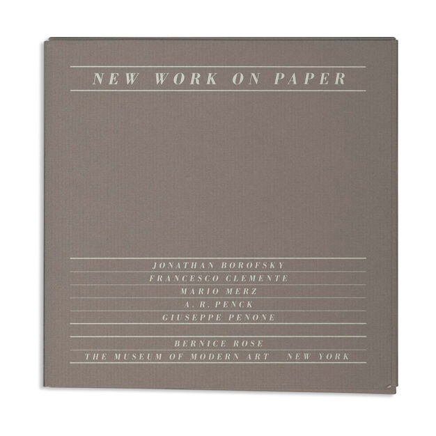 New Work on Paper 2: Borofsky, Clemente, Merz, Penck, Penone - Paperback in color