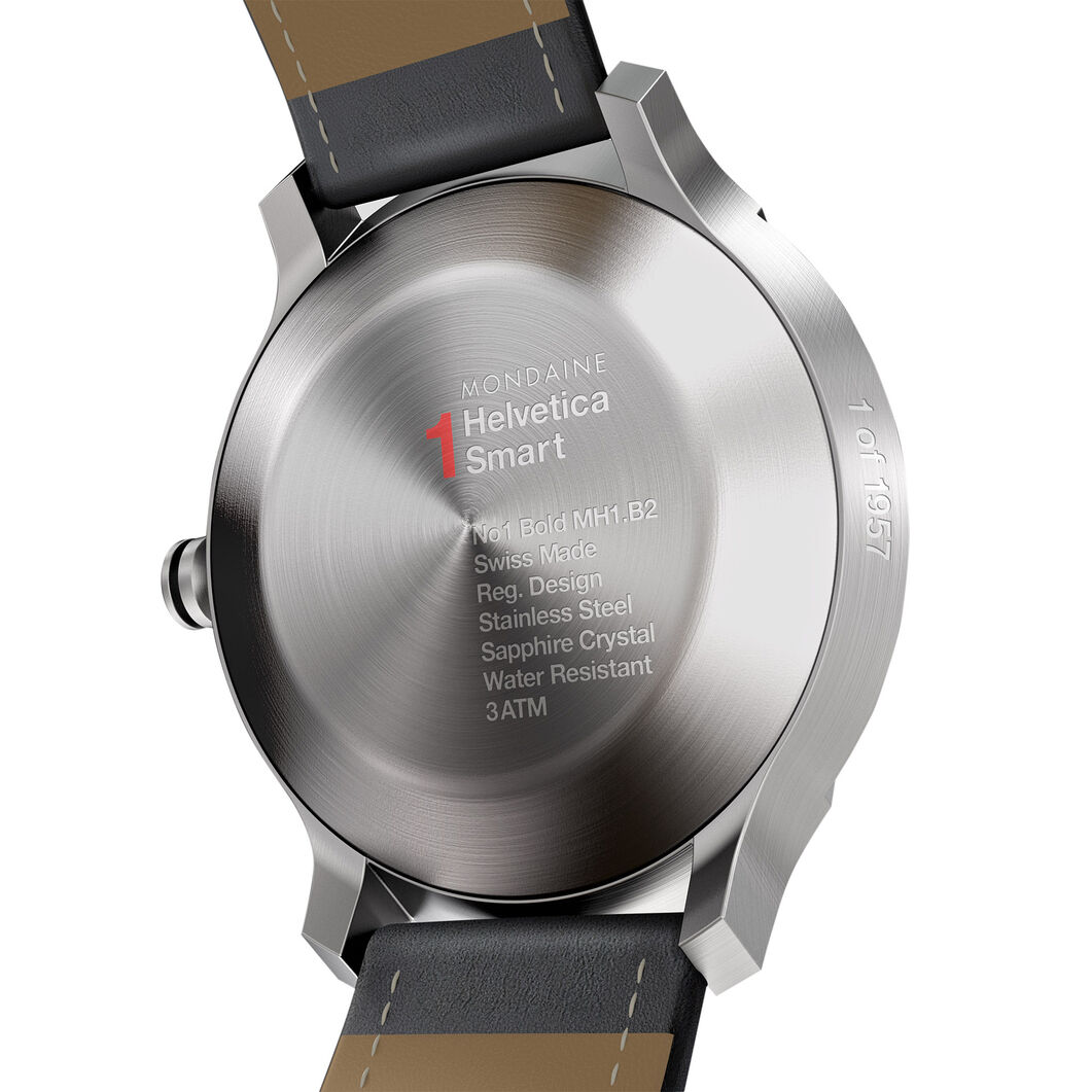 Mondaine Helvetica No 1 Smart Watch - Limited Edition in color