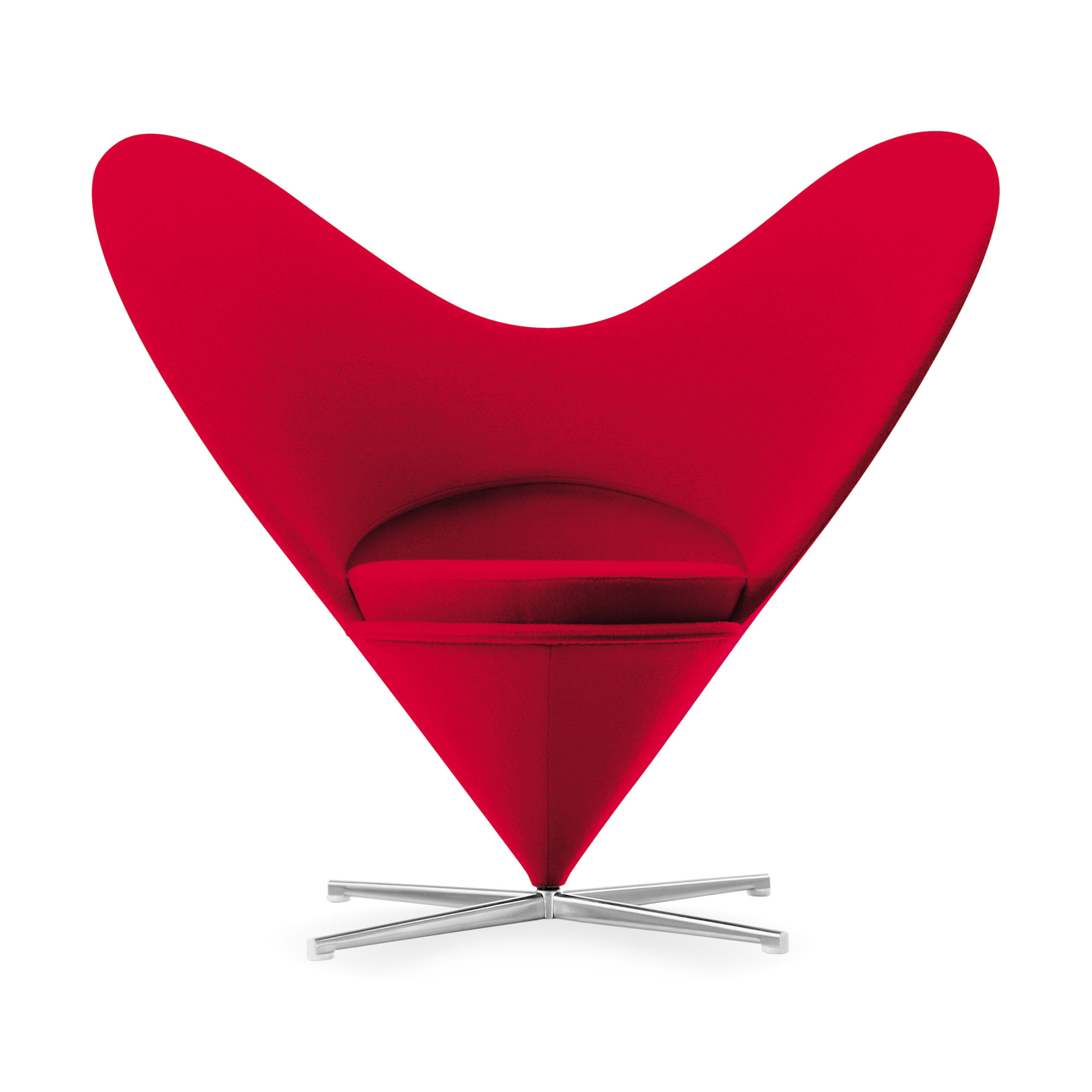 Beau Miniature Chair Panton Heart Shaped Cone In Color