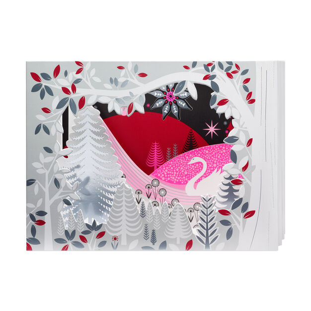 Swan Lake Holiday Cards (Box of 8) in color