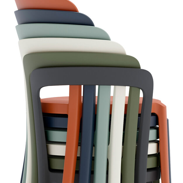 Emeco On & On Recycled Stackable Chair in color California Light Blue