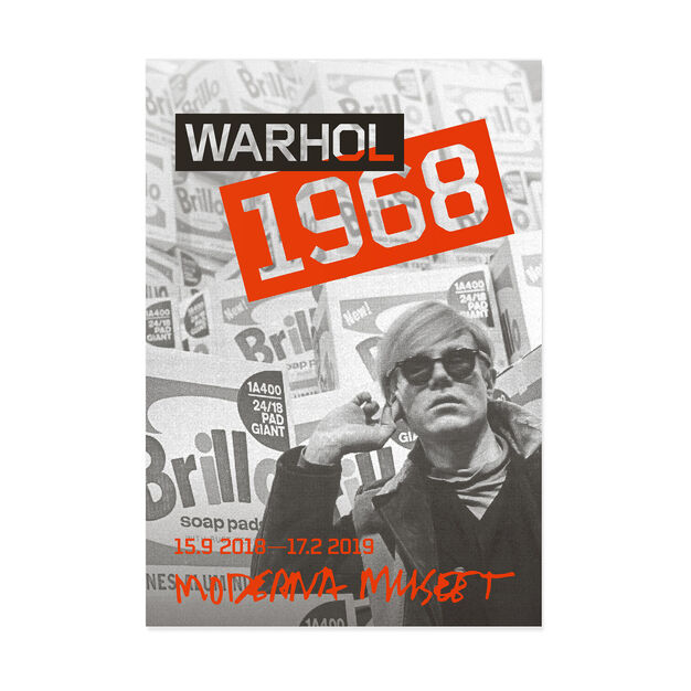 Andy Warhol: Warhol 1968 Poster in color