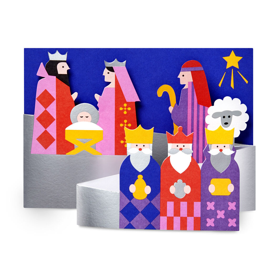 Modern Nativity Holiday Cards in color