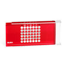 Acrylic Perpetual Calendar in color Red