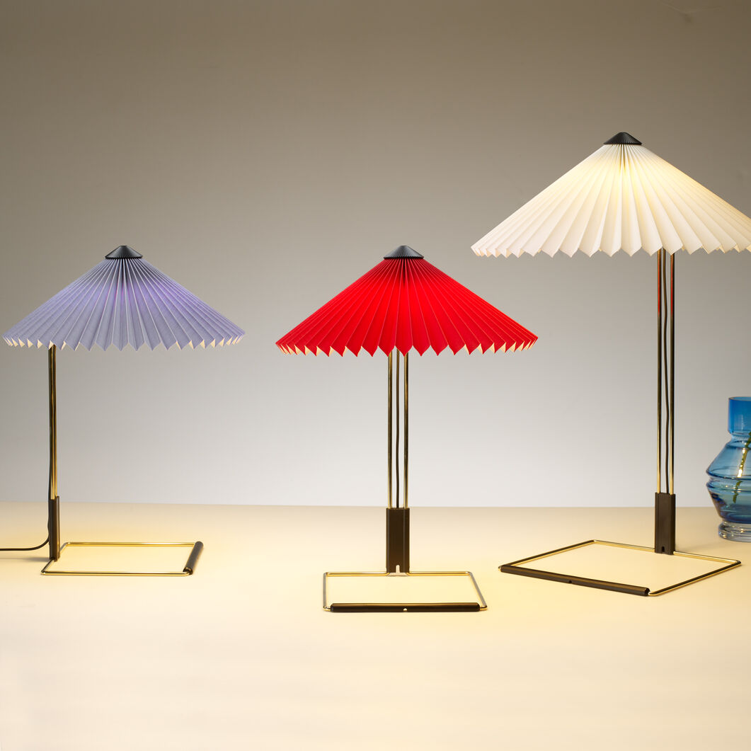 HAY Matin Table Lamps in color Red