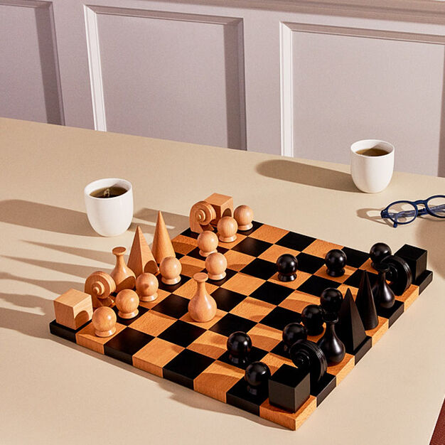 Man Ray: Chess Pieces in color
