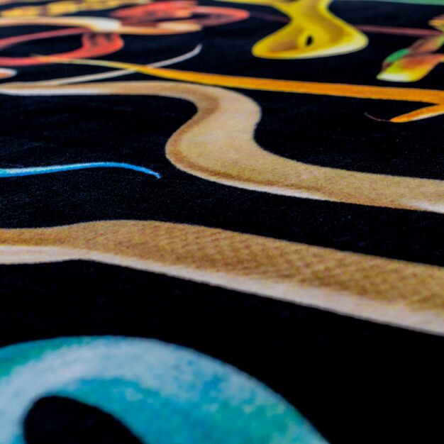 Seletti Wears Toiletpaper Rectangular Rug: Snakes in color