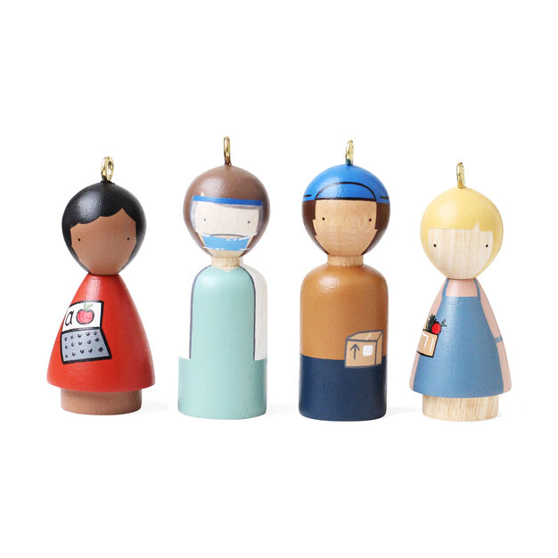 Modern Heroes Ornament - Set of 4 in color